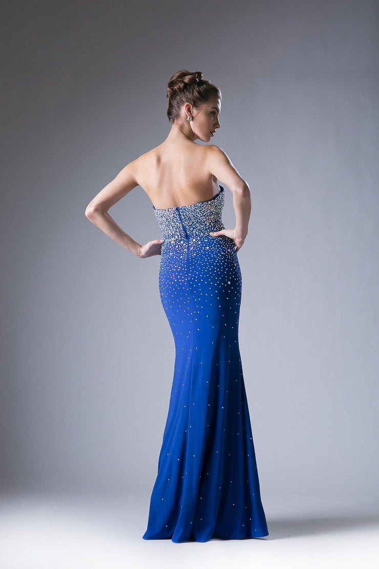 Beaded Long Strapless Dress by Cinderella Divine 2053