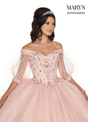 Beaded Off Shoulder Quinceanera Dress by Mary's Bridal MQ1050-Quinceanera Dresses-ABC Fashion