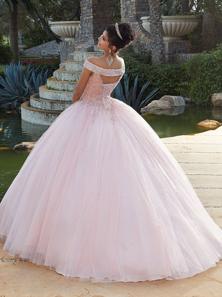 Beaded Off Shoulder Quinceanera Dress by Mori Lee Valencia 60097-Quinceanera Dresses-ABC Fashion