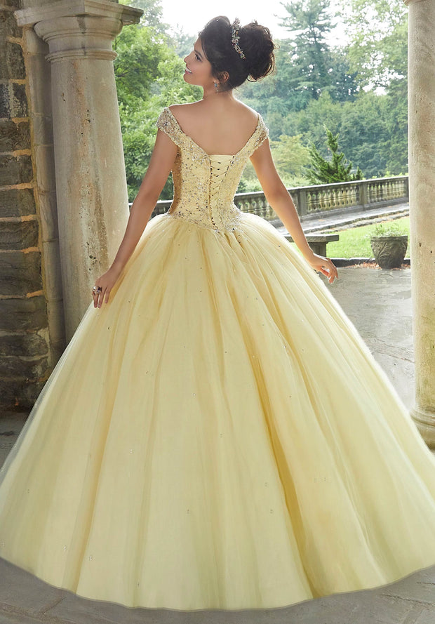 Beaded Off Shoulder Quinceanera Dress by Mori Lee Valencia 60105-Quinceanera Dresses-ABC Fashion