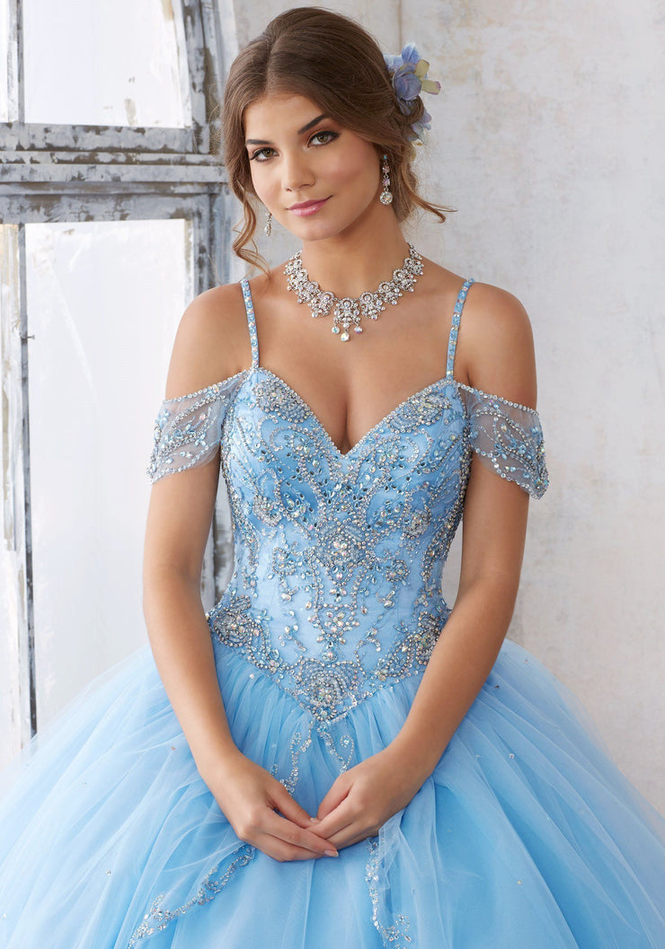 Beaded Off Shoulder Quinceanera Dress by Mori Lee Vizcaya 89135-Quinceanera Dresses-ABC Fashion