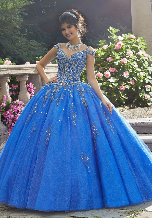 Beaded Off Shoulder Quinceanera Dress by Mori Lee Vizcaya 89267-Quinceanera Dresses-ABC Fashion