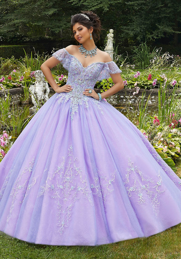 Beaded Off Shoulder Quinceanera Dress by Mori Lee Vizcaya 89271-Quinceanera Dresses-ABC Fashion