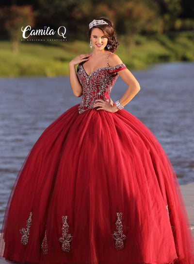 Beaded Off the Shoulder Quinceanera Dress by Camila Q Q18003-Quinceanera Dresses-ABC Fashion