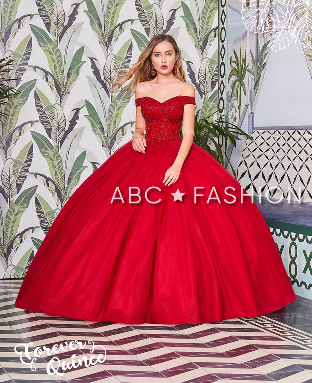 Beaded Off the Shoulder Quinceanera Dress by Forever Quince FQ799-Quinceanera Dresses-ABC Fashion