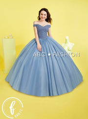 Beaded Off the Shoulder Quinceanera Dress by Forever Quince FQ799