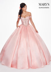 Beaded Off the Shoulder Quinceanera Dress by Mary's Bridal MQ1032-Quinceanera Dresses-ABC Fashion