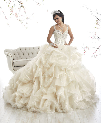 Beaded Pickup Quinceanera Dress by House of Wu 26868-Quinceanera Dresses-ABC Fashion