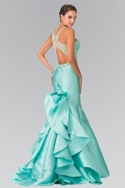 Beaded Ruffled Mermaid Dress by Elizabeth K GL2214-Long Formal Dresses-ABC Fashion