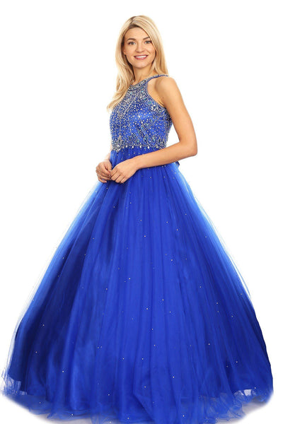 Beaded Sleeveless Ball Gown by Cinderella Couture 5027