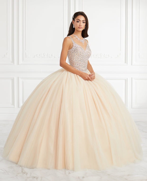 Beaded Sleeveless Quinceanera Dress by Fiesta Gowns 56392 (Size 10 - 16)-Quinceanera Dresses-ABC Fashion