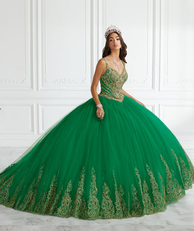 Beaded Sleeveless Quinceanera Dress by Fiesta Gowns 56397-Quinceanera Dresses-ABC Fashion