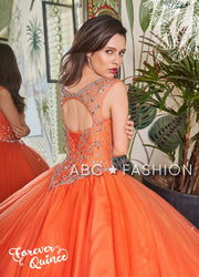 Beaded Sleeveless Quinceanera Dress by Forever Quince FQ798-Quinceanera Dresses-ABC Fashion