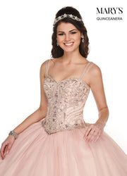 Beaded Sleeveless Quinceanera Dress by Mary's Bridal MQ1055-Quinceanera Dresses-ABC Fashion