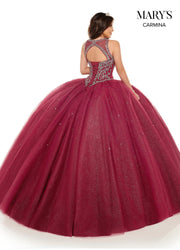 Beaded Sleeveless Quinceanera Dress by Mary's Bridal MQ1070