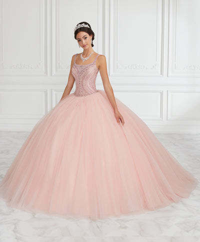 Beaded Sleeveless Tulle Quinceanera Dress by House of Wu 26943-Quinceanera Dresses-ABC Fashion