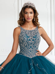 Beaded Split Front Quinceanera Dress by Fiesta Gowns 56388-Quinceanera Dresses-ABC Fashion
