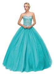 Beaded Strapless A-line Ball Gown by Dancing Queen 9148