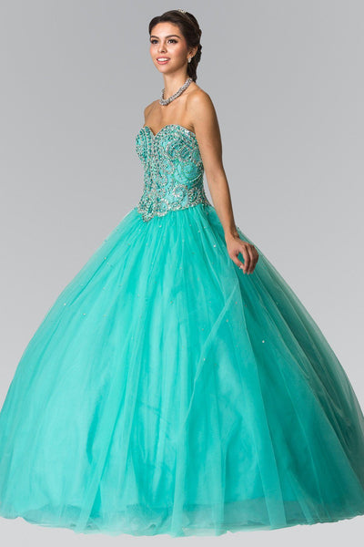 Beaded Strapless A-Line Ballgown by Elizabeth K GL2205-Quinceanera Dresses-ABC Fashion