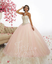 Beaded Strapless Quinceanera Dress by Fiesta Gowns 56337-Quinceanera Dresses-ABC Fashion