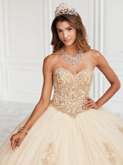 Beaded Strapless Quinceanera Dress by Fiesta Gowns 56386 (Size 18 - 26)-Quinceanera Dresses-ABC Fashion