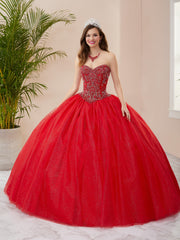 Beaded Strapless Quinceanera Dress by Fiesta Gowns 56403 (Size 18 - 26)