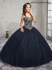 Beaded Strapless Quinceanera Dress by Mary's Bridal M4Q1008-Quinceanera Dresses-ABC Fashion