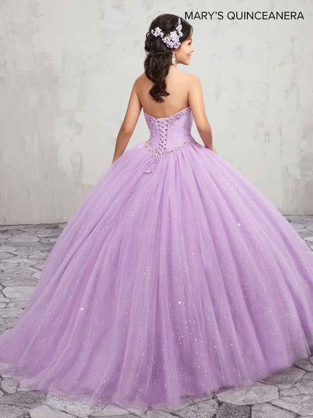 Beaded Strapless Quinceanera Dress by Mary's Bridal M4Q1011-Quinceanera Dresses-ABC Fashion