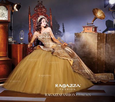 Beaded Strapless Quinceanera Dress by Ragazza Fashion B67-367-Quinceanera Dresses-ABC Fashion
