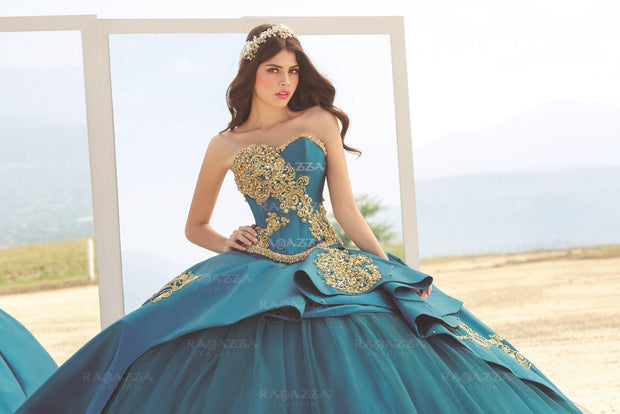 Beaded Strapless Quinceanera Dress by Ragazza Fashion B74-374-Quinceanera Dresses-ABC Fashion