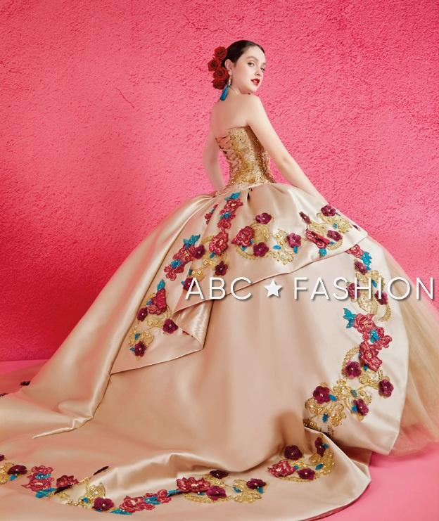 Beaded Strapless Quinceanera Dress by Ragazza Fashion M18-118B