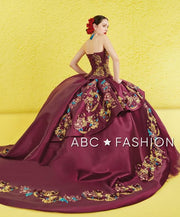 Strapless Charro Quince Dress by Ragazza M18-118B