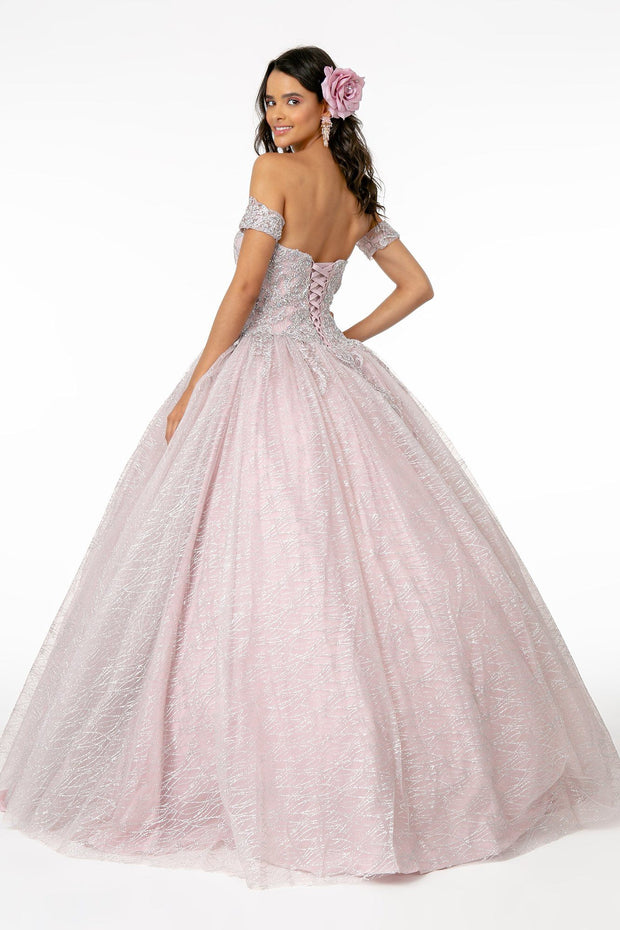 Beaded Sweetheart Ball Gown with Cape by Elizabeth K GL2914-Quinceanera Dresses-ABC Fashion