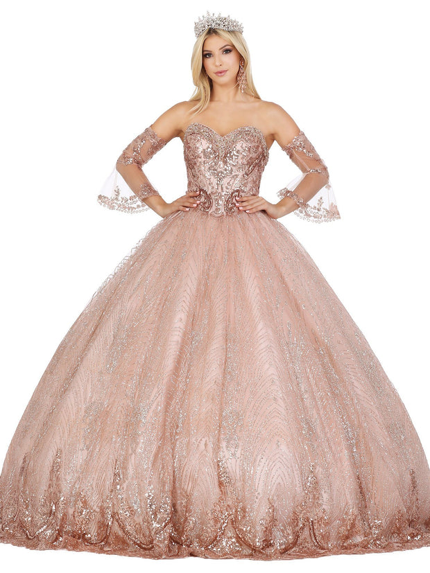 Beaded Sweetheart Glitter Ball Gown by Dancing Queen 1443