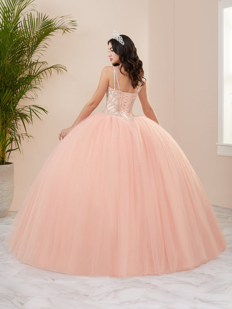 Beaded Sweetheart Quinceanera Dress by Fiesta Gowns 56409 (Size 10 - 16)