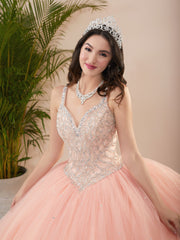 Beaded Sweetheart Quinceanera Dress by Fiesta Gowns 56409 (Size 18 - 26)