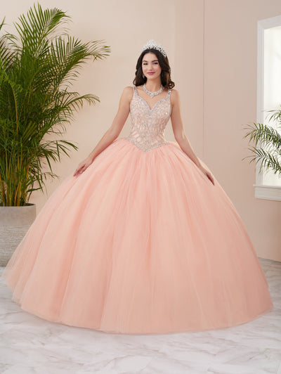 Beaded Sweetheart Quinceanera Dress by Fiesta Gowns 56409 (Size 28 - 30)