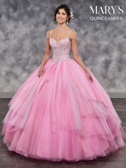 Beaded Sweetheart Quinceanera Dress by Mary's Bridal MQ2038-Quinceanera Dresses-ABC Fashion