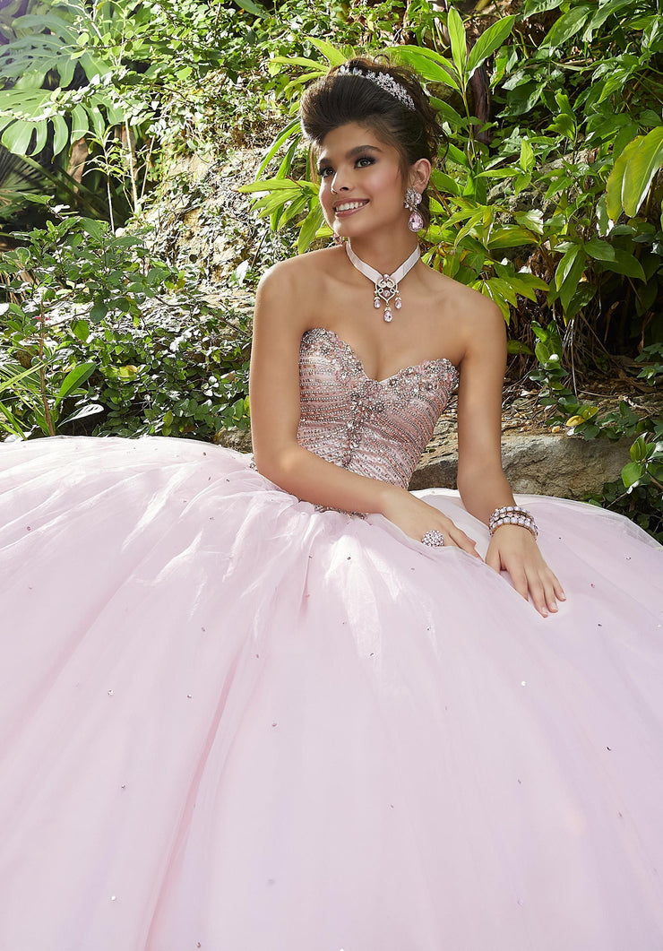 Beaded Sweetheart Quinceanera Dress by Mori Lee Valencia 60093-Quinceanera Dresses-ABC Fashion