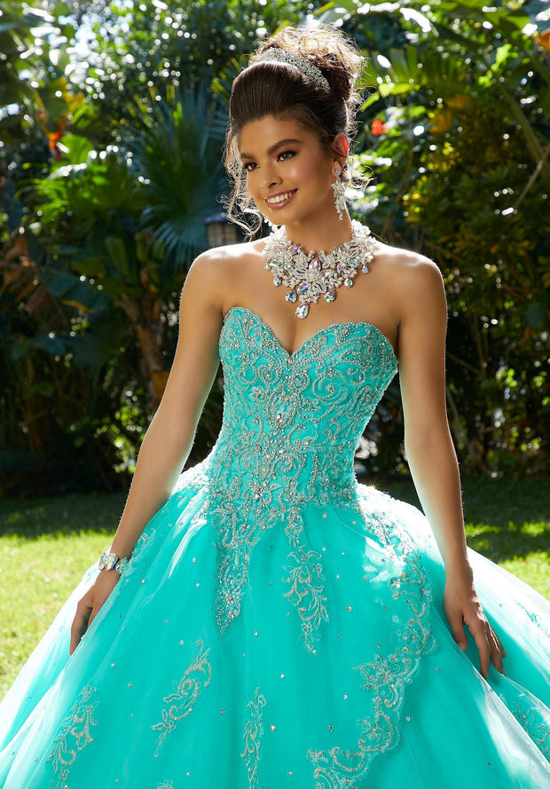 Beaded Sweetheart Quinceanera Dress by Mori Lee Vizcaya 89254-Quinceanera Dresses-ABC Fashion