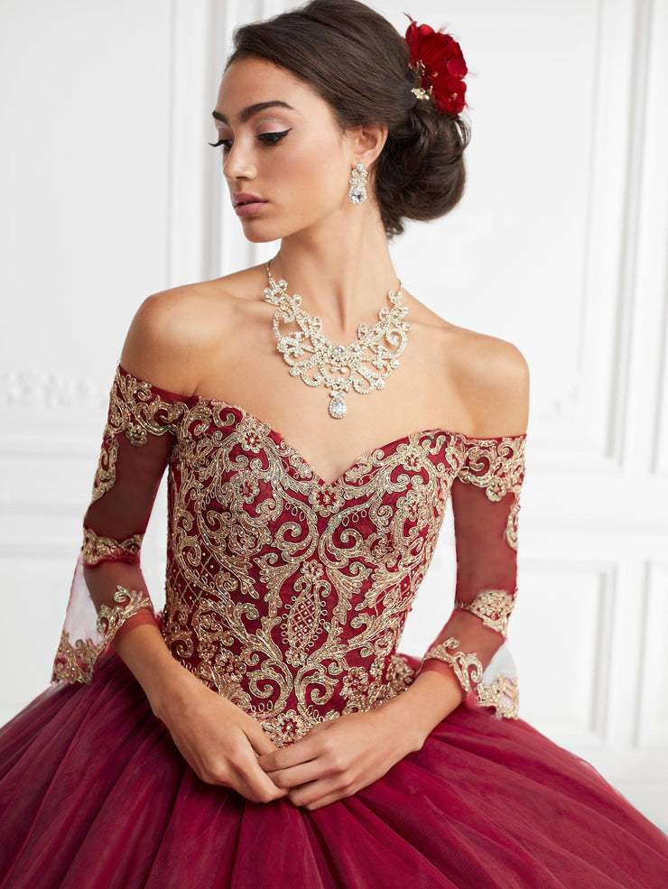 Bell Sleeve Off Shoulder Quinceanera Dress by House of Wu 26948-Quinceanera Dresses-ABC Fashion