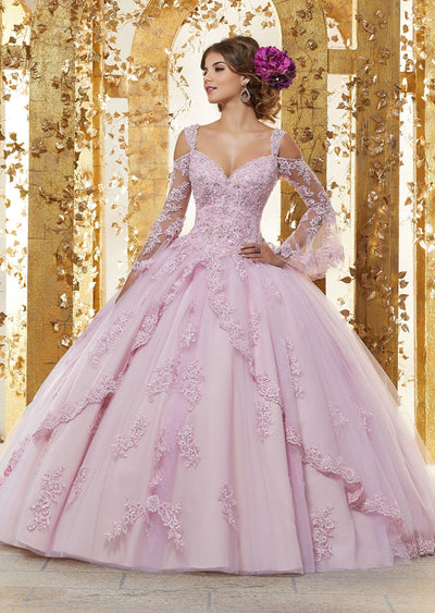 Bell Sleeves Quinceanera Dress by Mori Lee Vizcaya 89228-Quinceanera Dresses-ABC Fashion