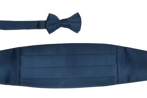 Boys Blue Sapphire Cummerbund and Bow Tie Set-Boys Cummerbund-ABC Fashion