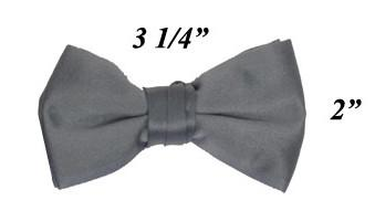 Boys Charcoal Pre-Tied Bow Tie-Boys Formal Wear-ABC Fashion
