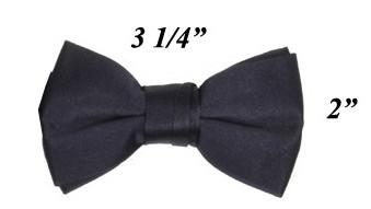 Boys Navy Blue Pre-Tied Bow Tie-Boys Formal Wear-ABC Fashion
