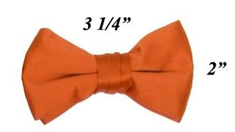Boys Orange Pre-Tied Bow Tie-Boys Formal Wear-ABC Fashion