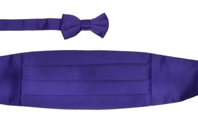 Boys Purple Cummerbund and Bow Tie Set-Boys Cummerbund-ABC Fashion