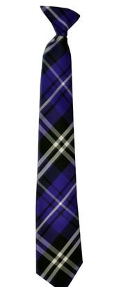 Boys Purple Plaid Clip On Necktie-Boys Neckties-ABC Fashion