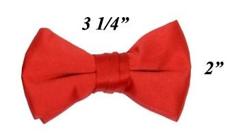 Boys Red Pre-Tied Bow Tie-Boys Formal Wear-ABC Fashion