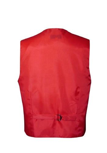 Boys Red Satin Vest with Neck Tie and Bow Tie-Boys Vests-ABC Fashion